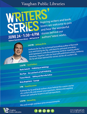 Vaughan Writers Series Flyer