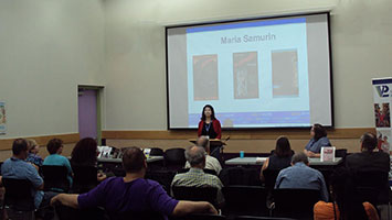 Photo of Maria at Vaughan Writers' Series